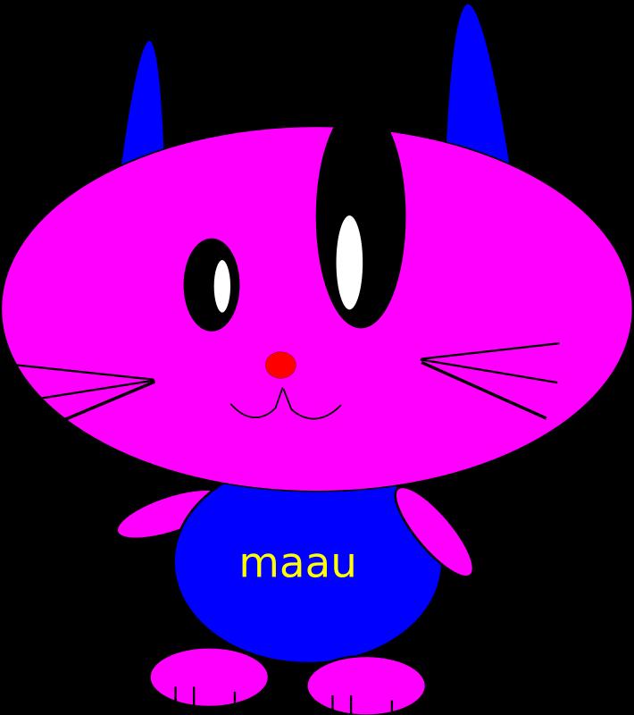 Clipart - baby cat bo too