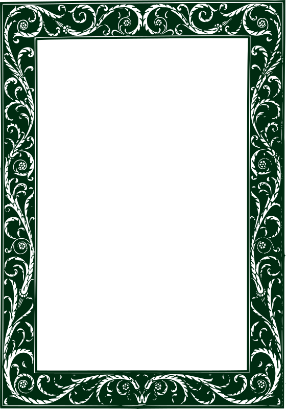 Clipart - Twisted Vines Frame - Green