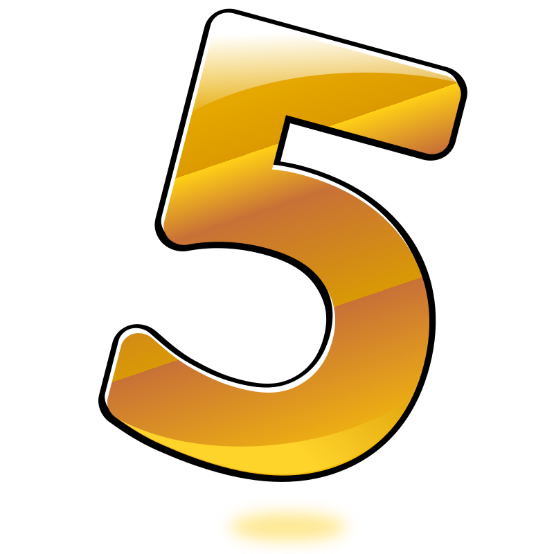 Clipart - Glossy Number : Five