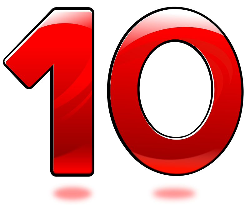 Clipart - Glossy Number : Ten