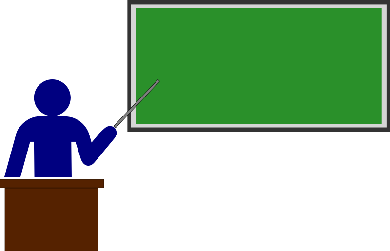 Clipart - Teacher (color)