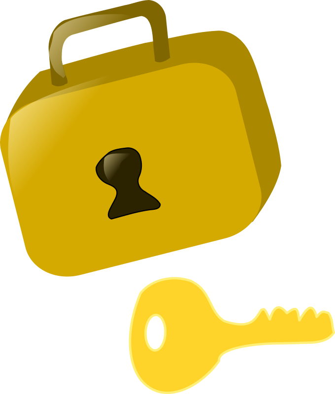 Clipart - lock and key