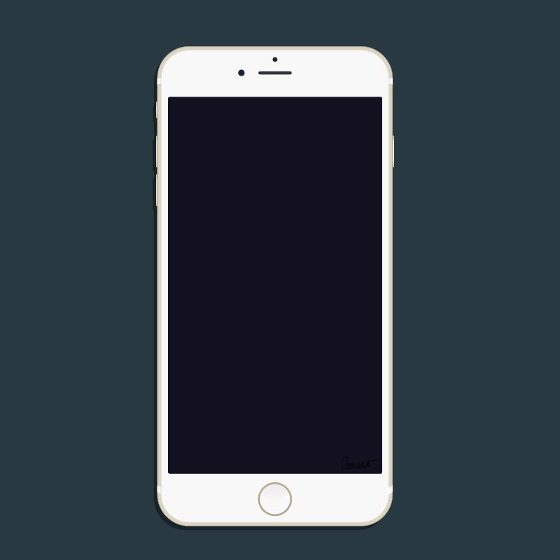 Clipart - Gold New iPhone 6 Plus