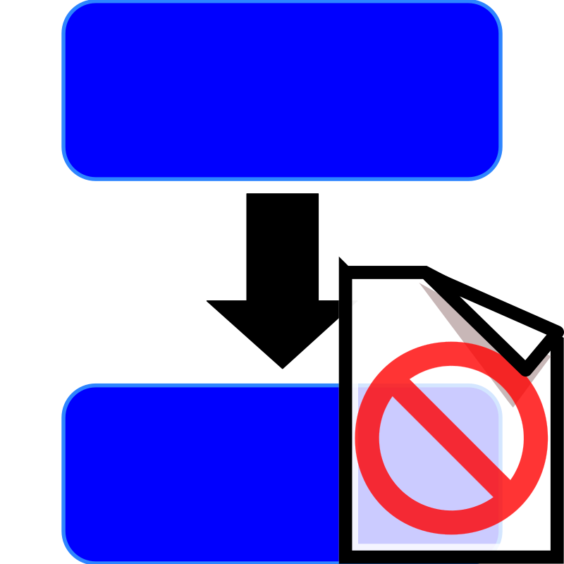 Clipart Procedure In Blue Not Documented