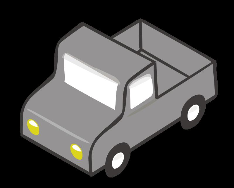 Clipart - Isometric Gray Truck
