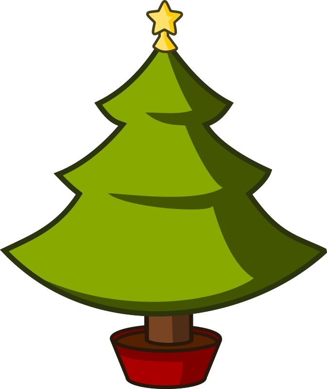 Cartoon xmas tree by qubodup christmas with more