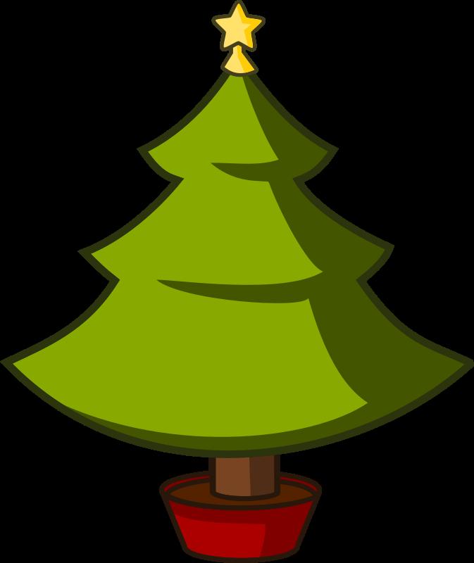 Clipart - Cartoon Xmas Tree