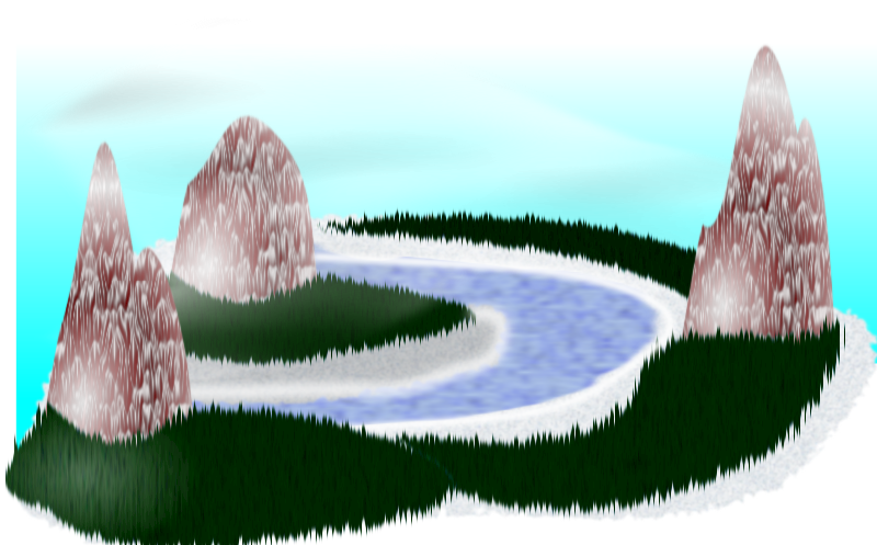 Simple RPG Scenery by wsnaccad - I totally agree with Nicubunu, Inkscape can be used for RPG. Thanks to filters it's really easy to create sceneries. I hope this will encourage the others to create more.