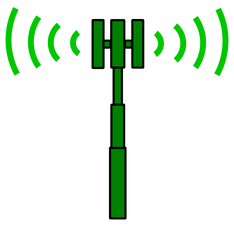 clip art representation of a mobile phone cell site (cell tower). Cell ...