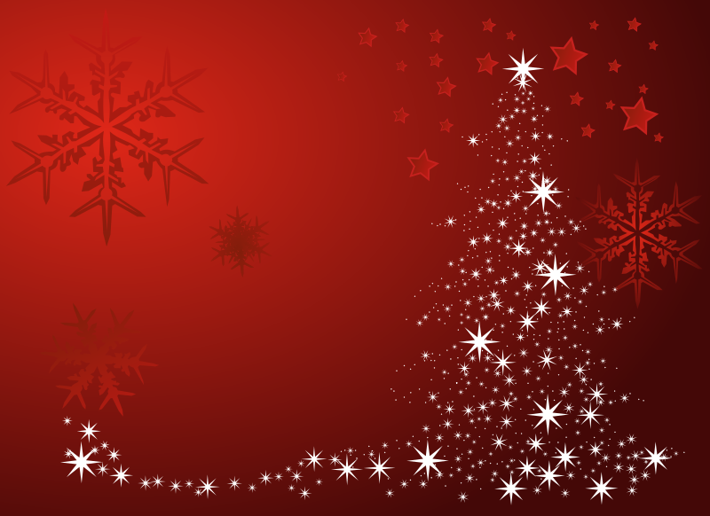 Clipart christmas three snowflakes and stars
