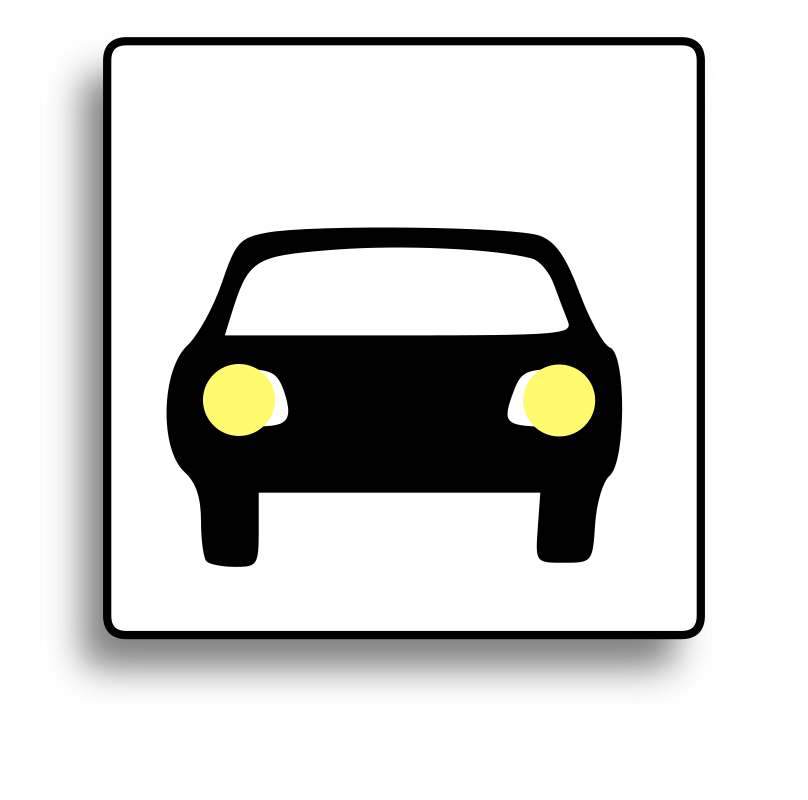 Car Icon for use with signs or buttons by milovanderlinden - Car Icon for use with signs or buttons.
