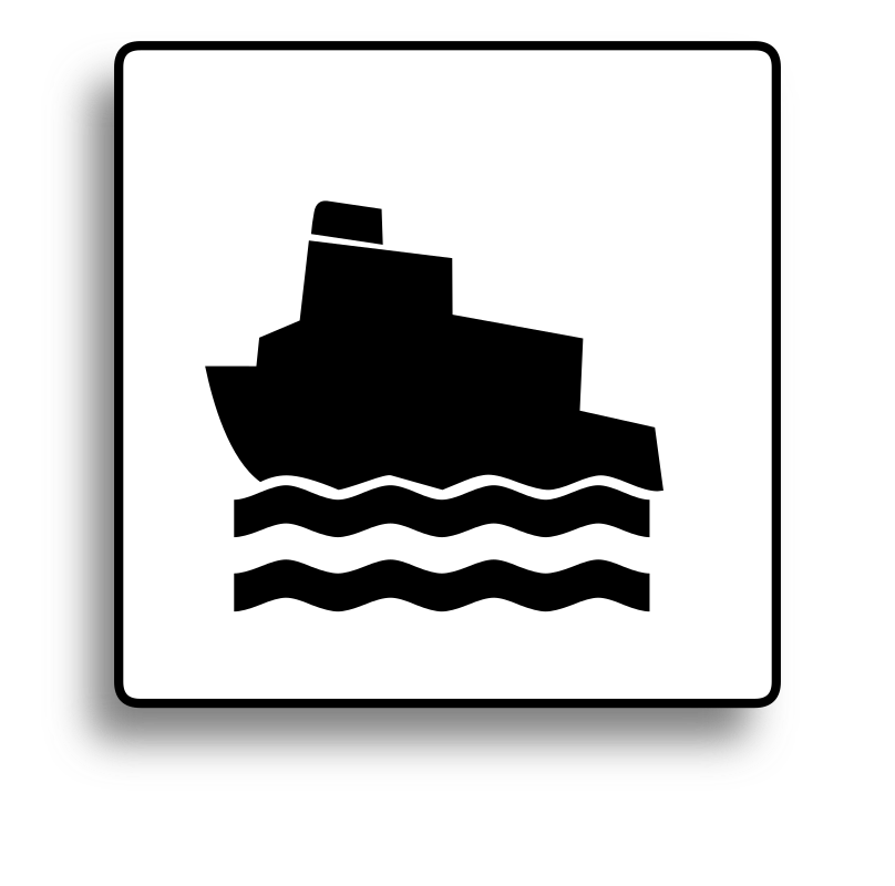 Ferry Icon for use with signs or buttons by milovanderlinden -