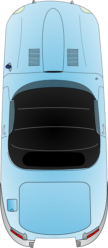 Sapuar by glibersat - A blue car viewed from the top.