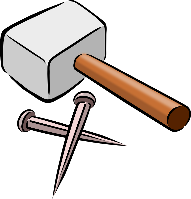Hammer and Nails by SnarkHunter - Hammer and Nails drawn as part of a set of symbols for Holy Week