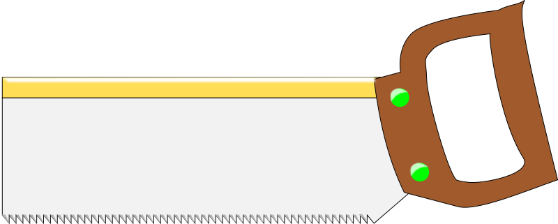 Along the back edge of the thin blade to keep it as stiff as possible