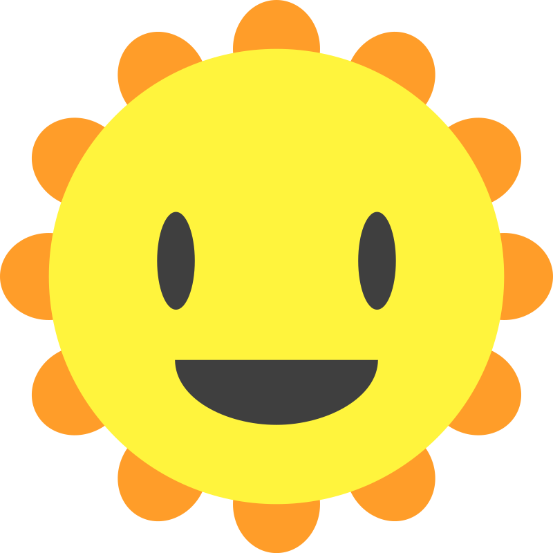Clipart - Cartoon Sun
