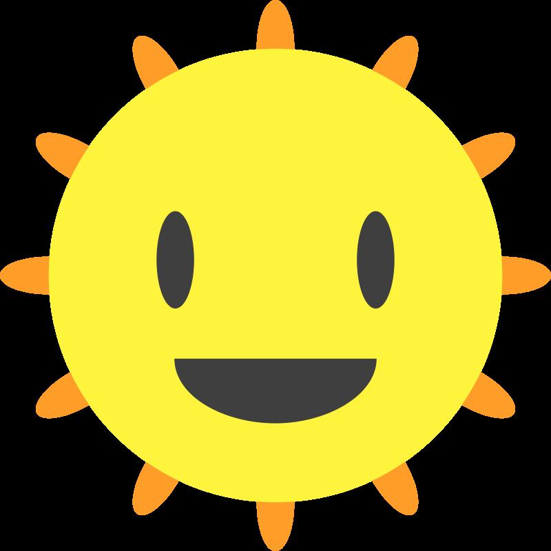 Clipart - Happy Sun