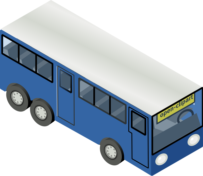 blue bus by rg1024 - Isometric (30º) bus.