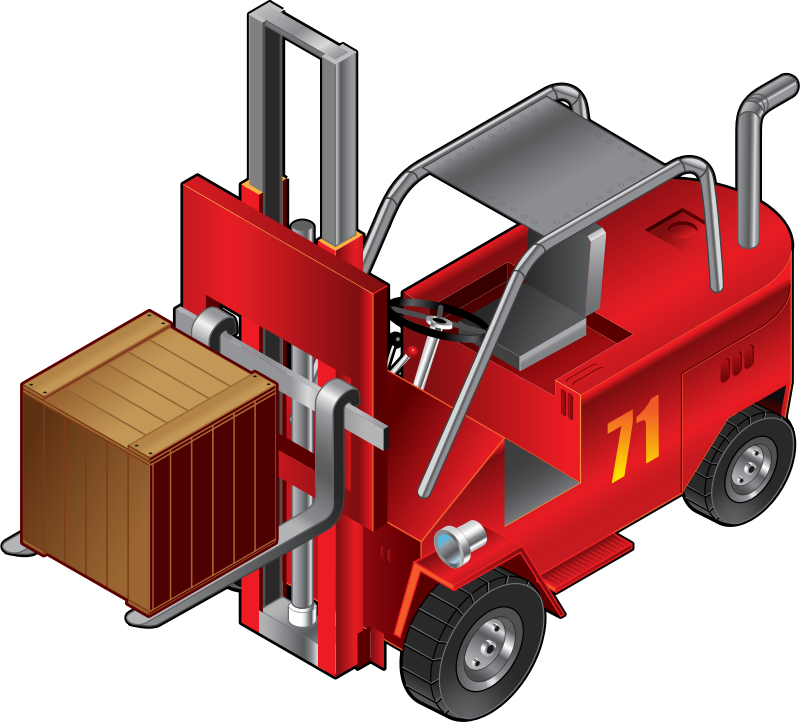 Forklift Truck by Muga - Isometric view of a Forklift Truck