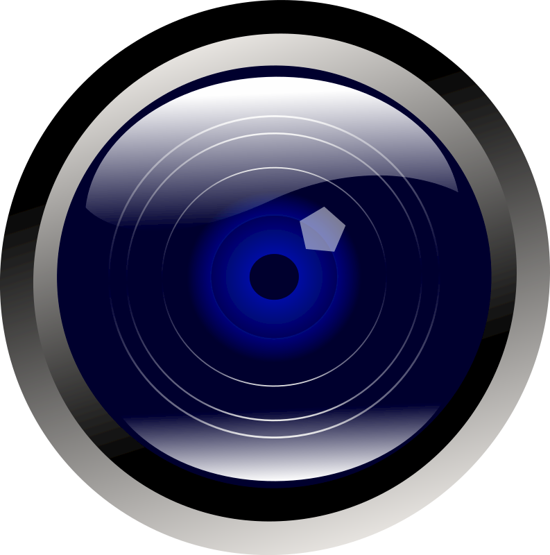 clipart blue camera lens email icon clipart free Free Clip Art