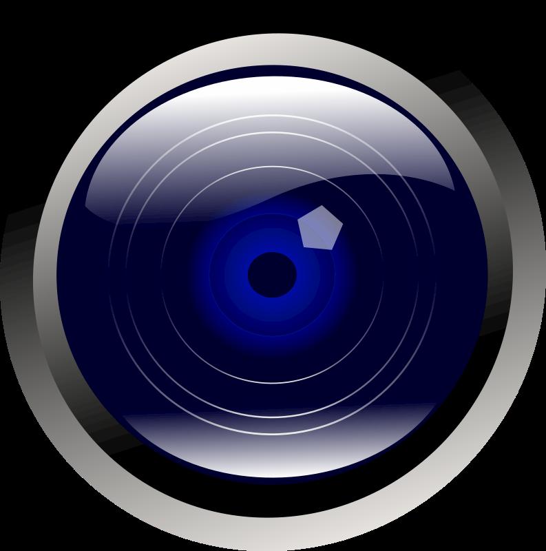 Clipart - blue camera lens