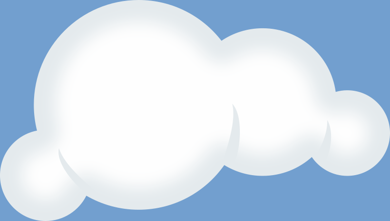 Set of soft clouds by rg1024 - puffy cloud