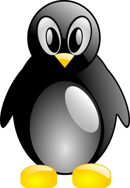 simple tux by pretojackson - A penguin viewed from the front.