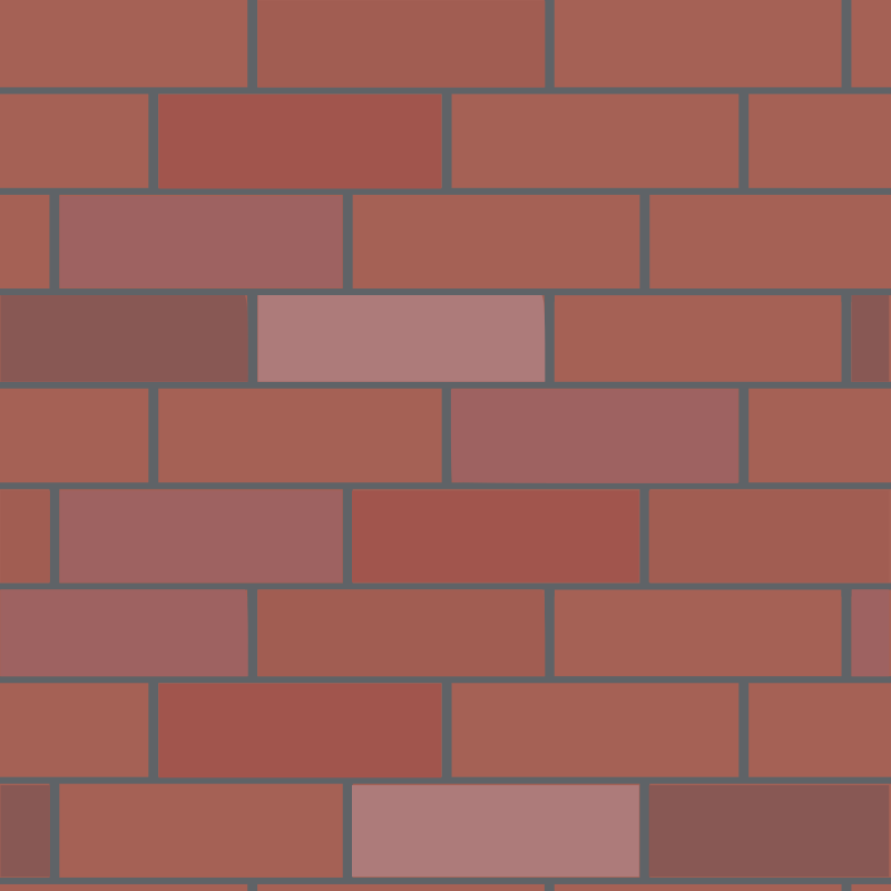 brick tile by rg1024 - A vectorial brick tile, including, as example, a little structure made with it.