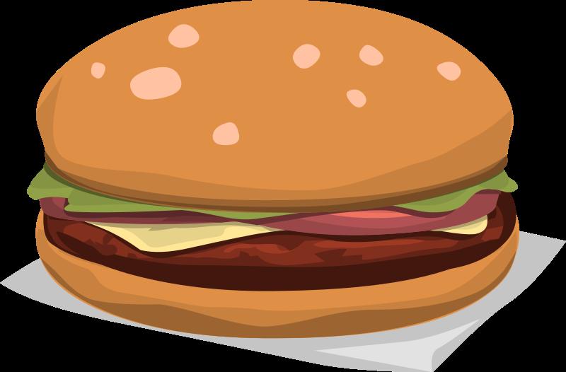 Clipart food maburger royale for Hamburger clipart
