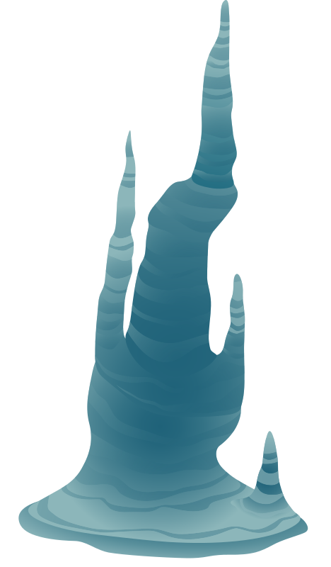 Clipart - Ilmenskie Cave Icicle 1