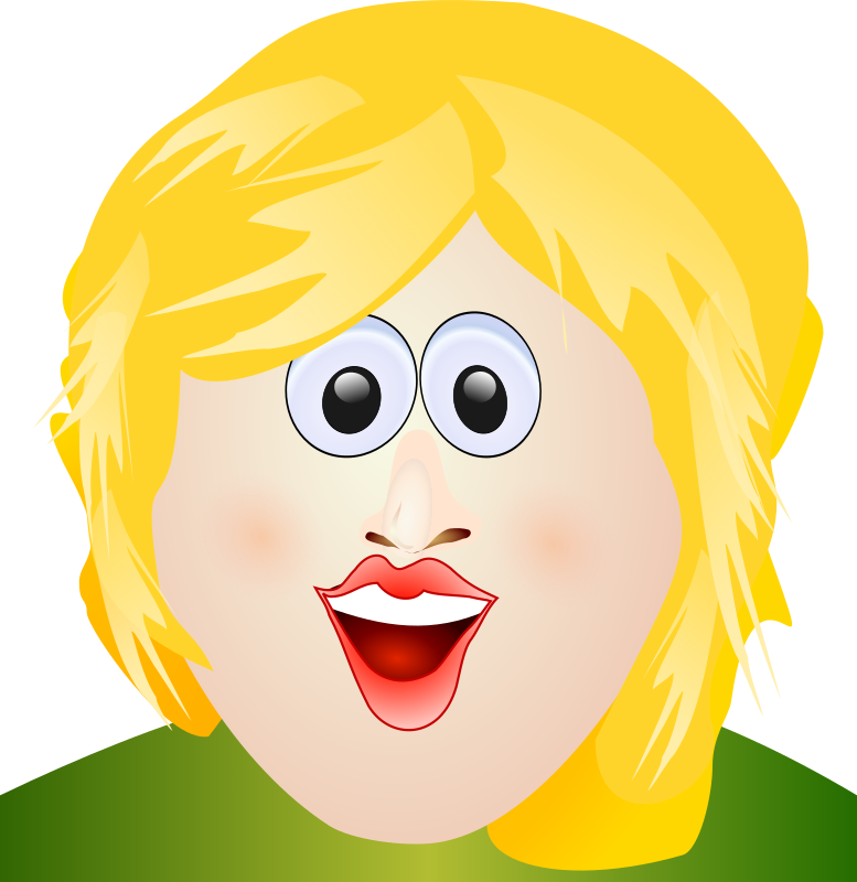 smiles blonde face by tomas_arad - smiling blonde woman