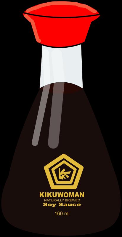 Clipart - Soy Sauce Bottle