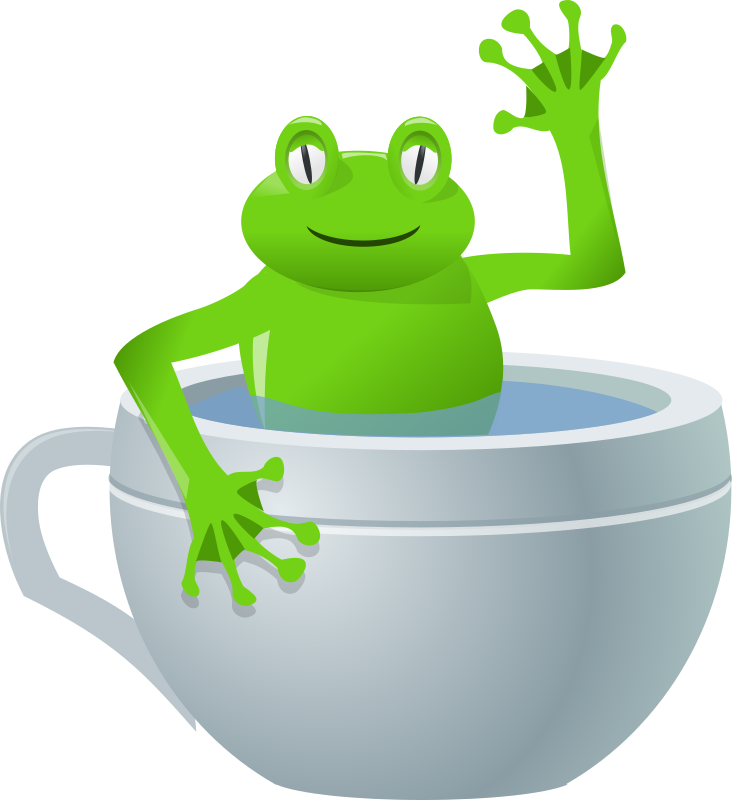 unexpected frog in my tea by rg1024 - A frog in a tea cup.
