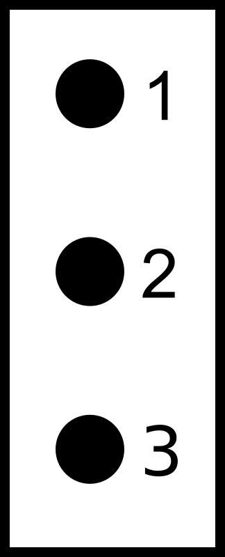 3 Point Connecter by rct36 - The electrical circuit symbol for a 3 point connector