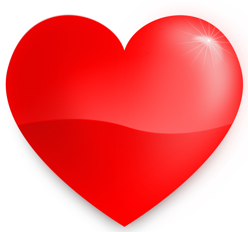 glossy heart by kablam - A Glossy love / heart symbol. Created in Inkscape. This is an Inkscape SVG