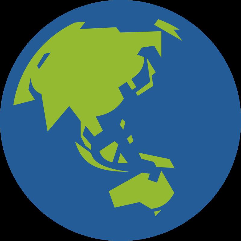 Clipart Globe Icon Facing Asia And Australia