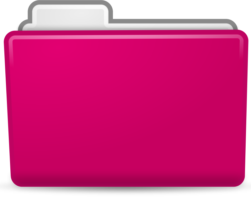 Clipart - Pink Folder Icon