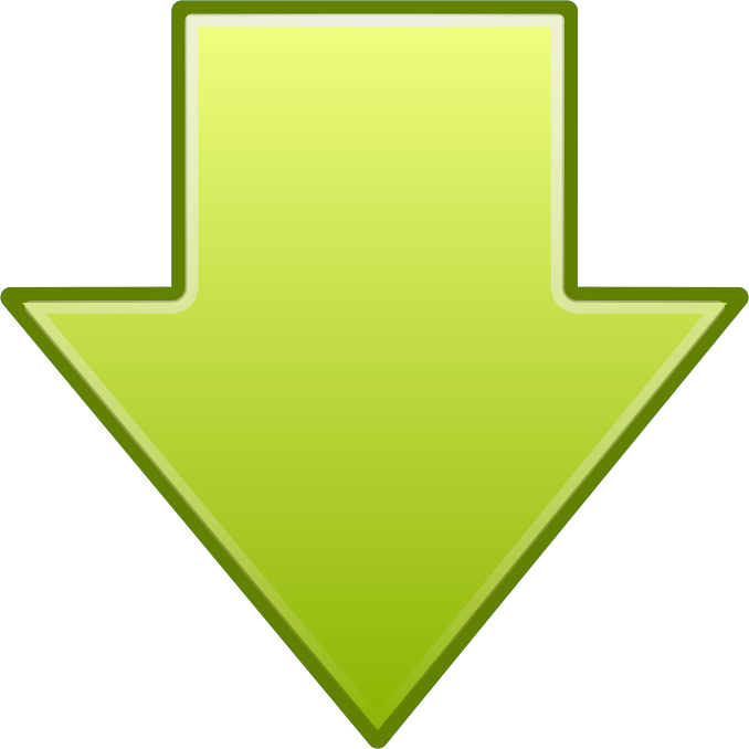 clipart go down arrow icon inkscape clipart tutorial inkscape clipart library