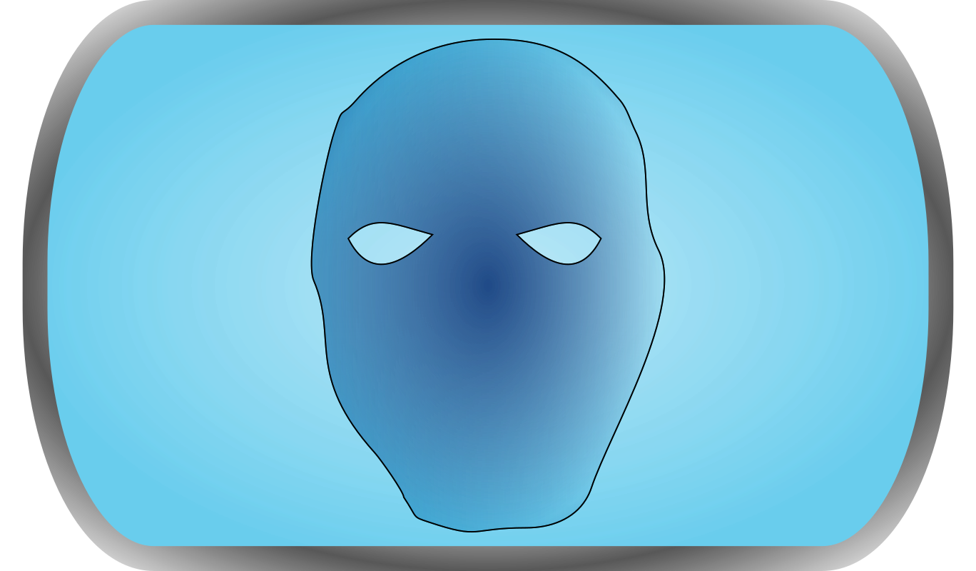Dr. Blue by gnu_d - It's a mask, but a blue one ;).