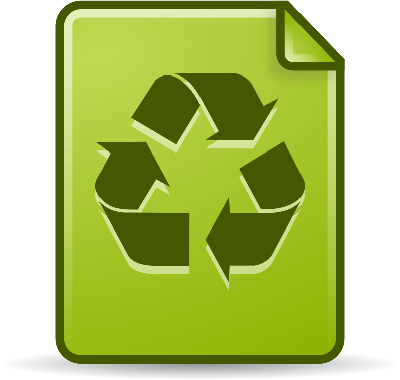 Clipart - Document in the Trash