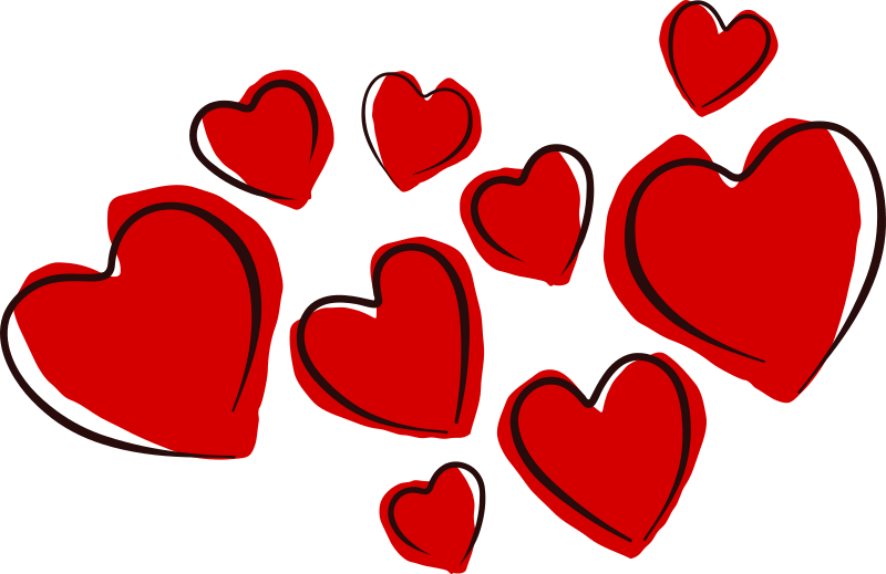 Sketchy Hearts by kablam - A bunch of Sketchy and lossely drawn hearts - Created in Inkscape.  visit my studio www.kablam.in