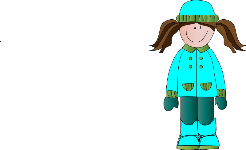 Clipart - girl in the winter