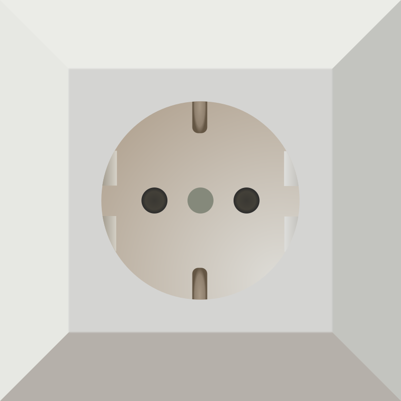 German Power Outlet on electrical outlet clip art