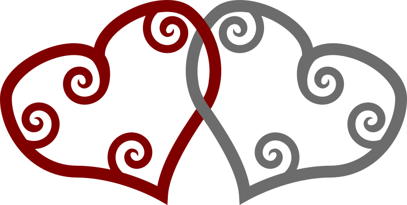 Red & Silver Maori Hearts Interlinked by adamazing