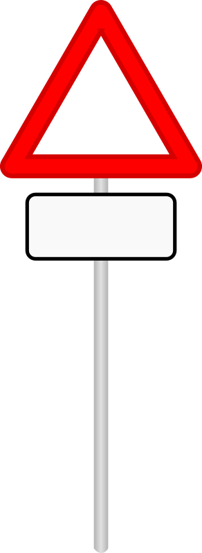 clipart road sign