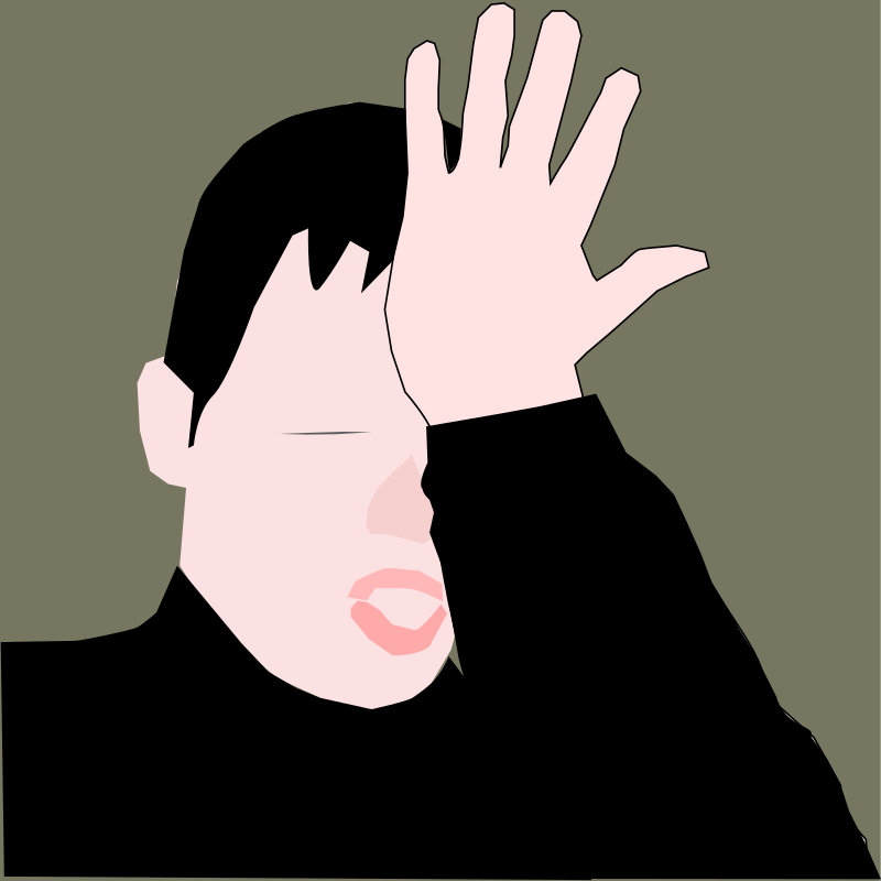 Clipart - facepalm as gesture