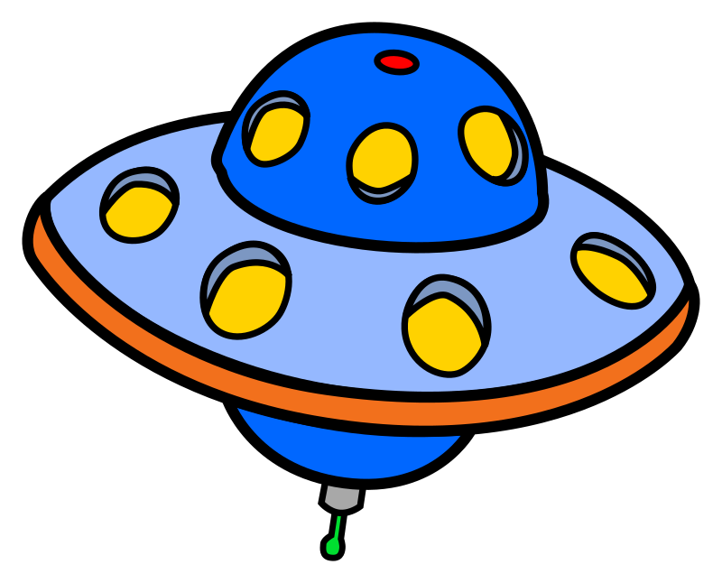 Clipart - UFO - coloured