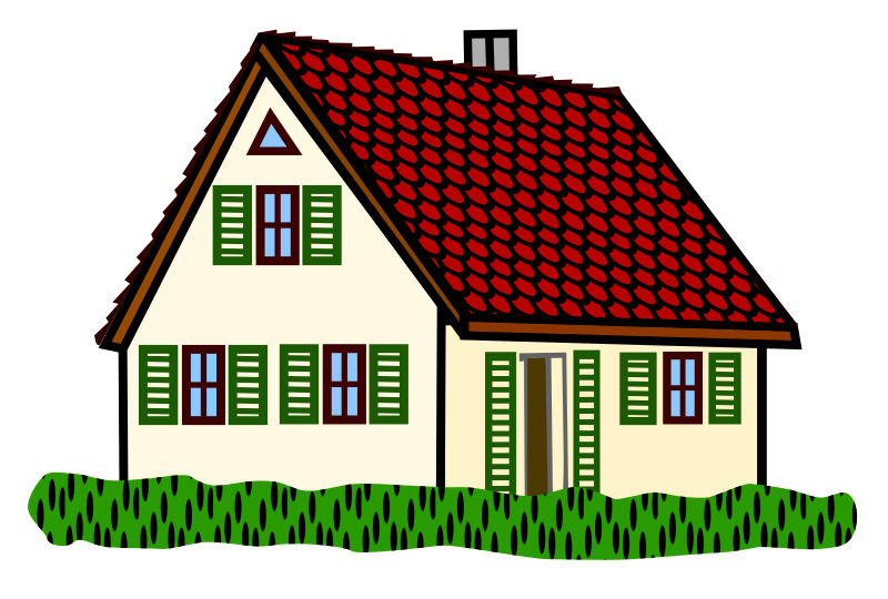 Clipart House Coloured
