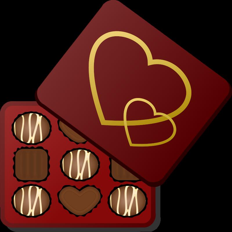 Clipart Box Of Chocolates