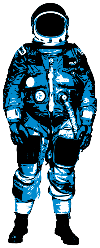 Astronaut, blue by liftarn - Blue astronaut from http://jonny-doomsday ...